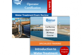 CA Grade T3 Water Treatment Operator License Upgrade
