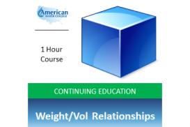 Weight-Volume Relationships